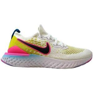 Nike Men Epic React Flyknit 2 White Pink Blast 10